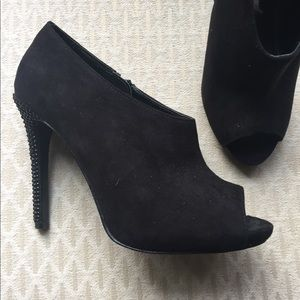 Shoes - Black suede heels with studs